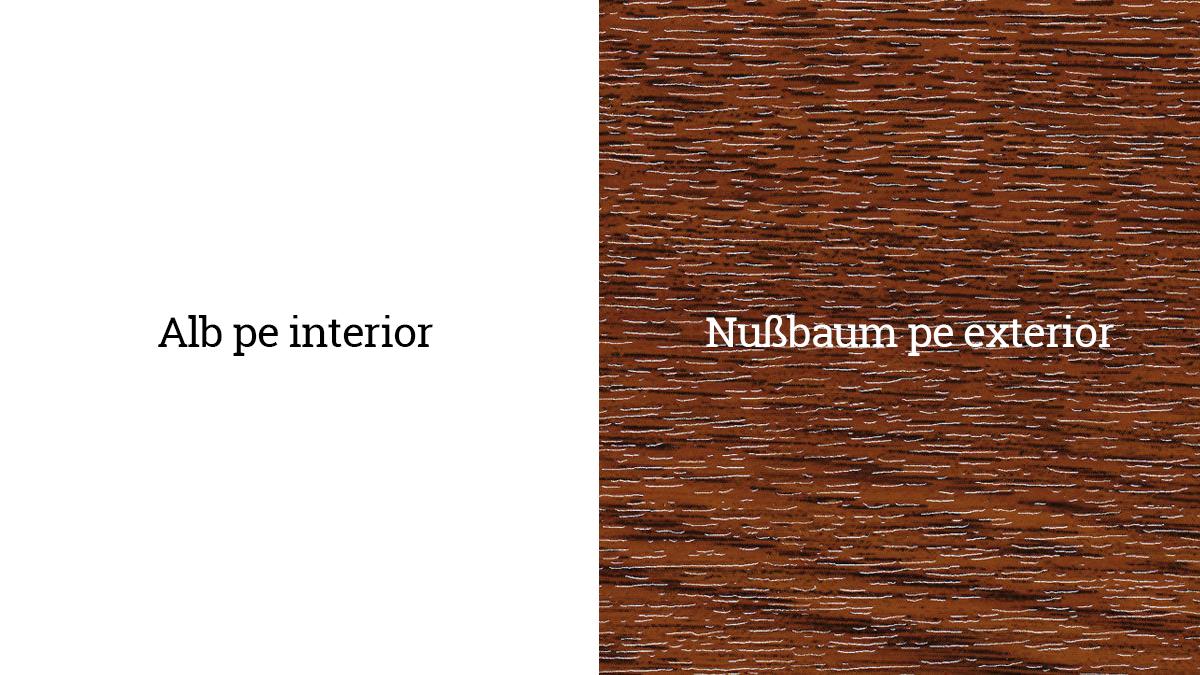 Alb pe interior - Nußbaum 21 - Nuc pe exterior